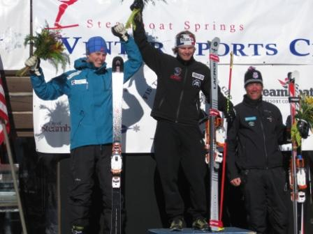 Shane Anderson on the Podium, Steamboat WC Sprint Classic