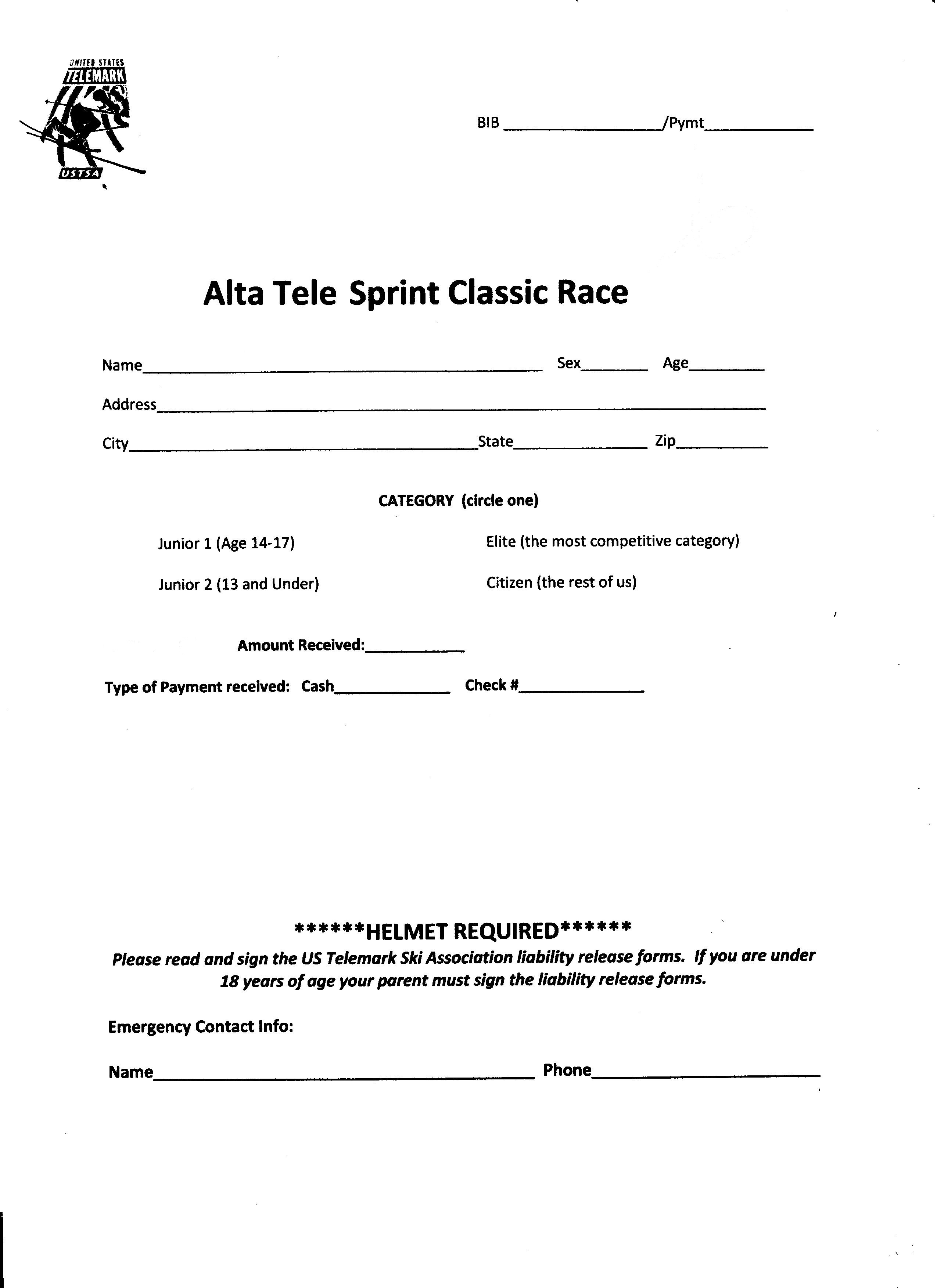 Two Free Sprint Classic Races - Alta, UT - USTSA - United States ...